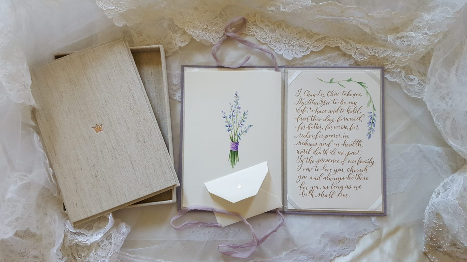 Wedding Story Writer Vow Book & Book Box
