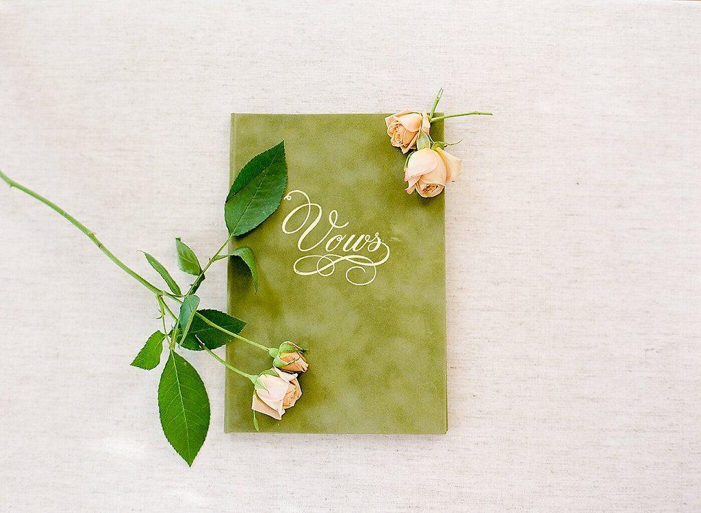 Moss Vow Book, Photo courtesy of  BonPhotage