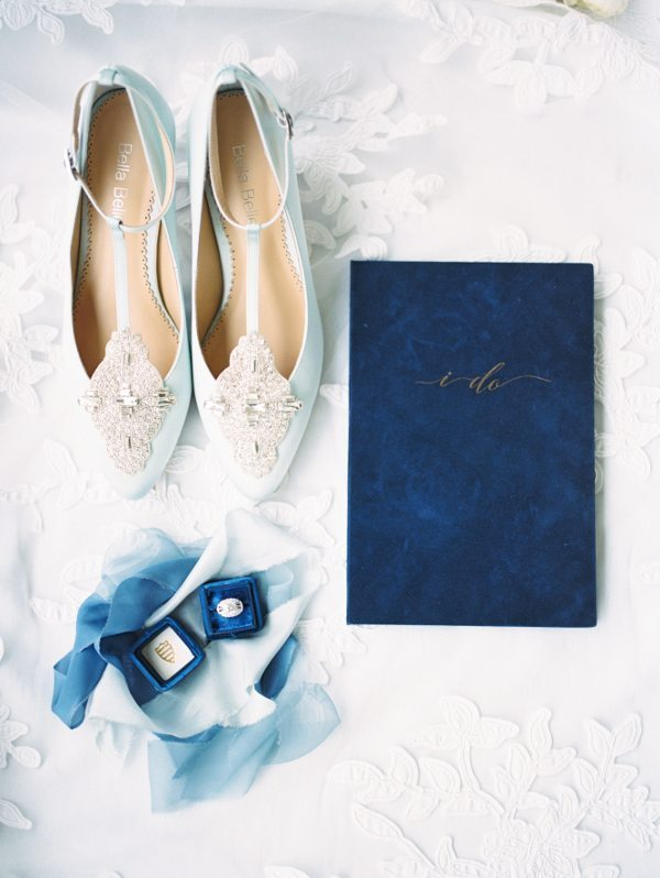 Blue Wedding Story Writer Vow Book Shoes Mrs Box