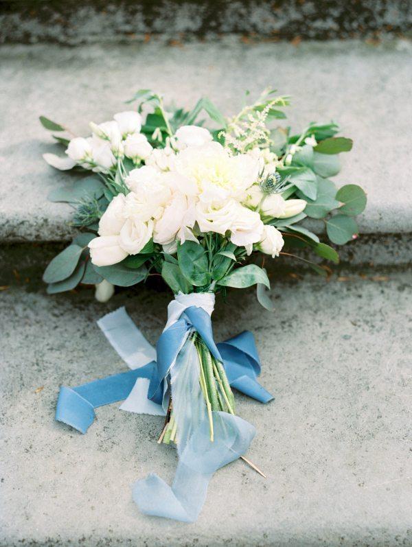 Blue Wedding Bouquet Fine Art Style