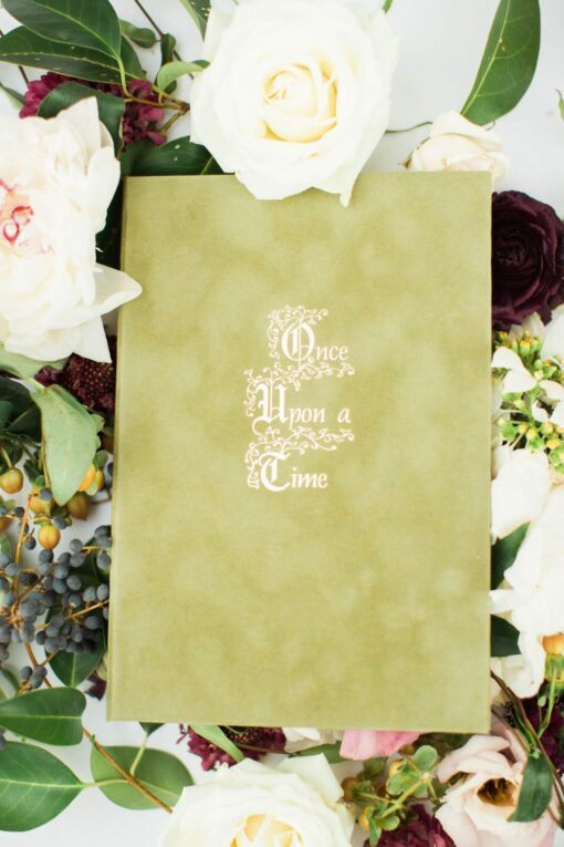 Moss Flocked Velvet