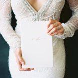 White Linen Vow Book