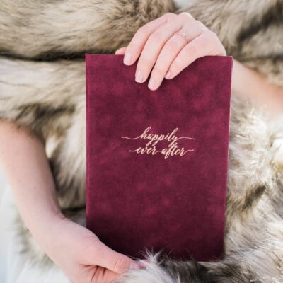 Burgundy and gold vow book, Wedding Story Writer, bespoke vow books, hand made vow books, calligraphy, destination weddings, international weddings, wedding in Italy, wedding in Switzerland, wedding in Iceland, elopements, elope in Iceland