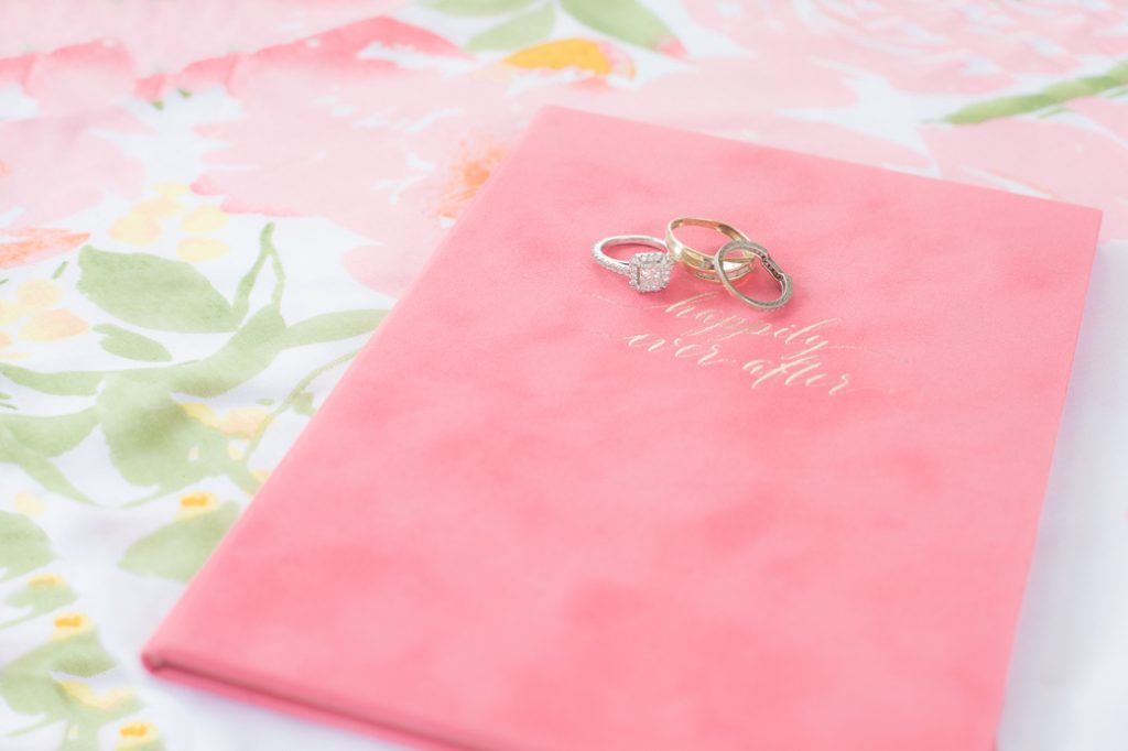 hot pink happily ever after wedding vow book Charleston SC Wedding Story Writer