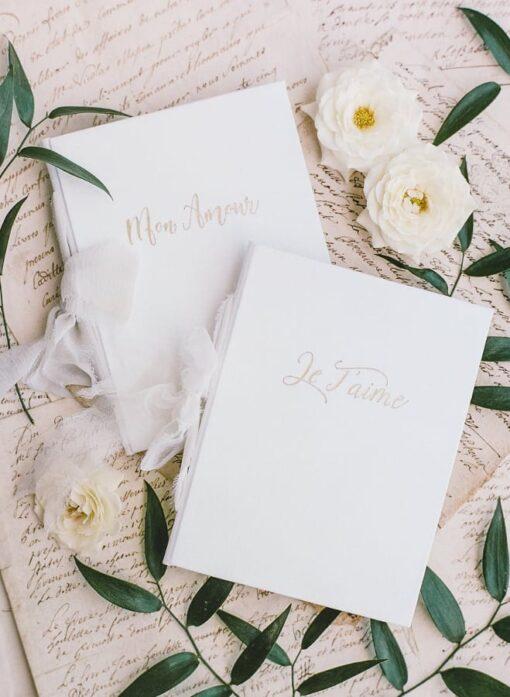 Vow book, vow booklet, destination weddings, luxury wedding, Lake Como Wedding, wedding Italy, Wedding France
