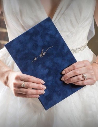 blue velvet vow book wedding story writer louisville ky weddings
