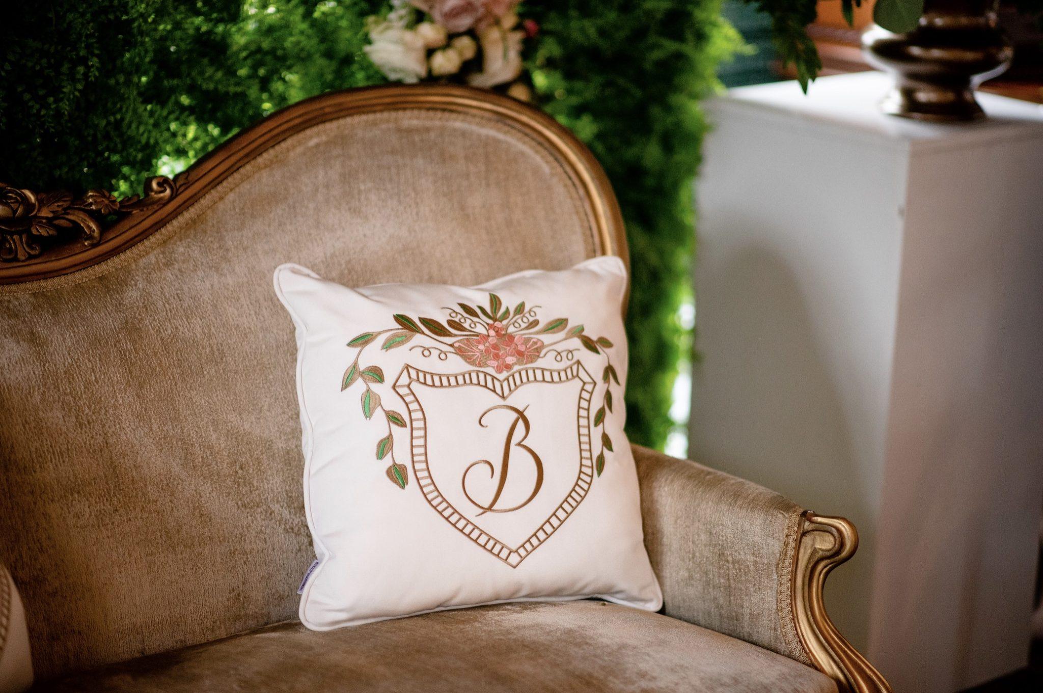 sofa B crest pillow