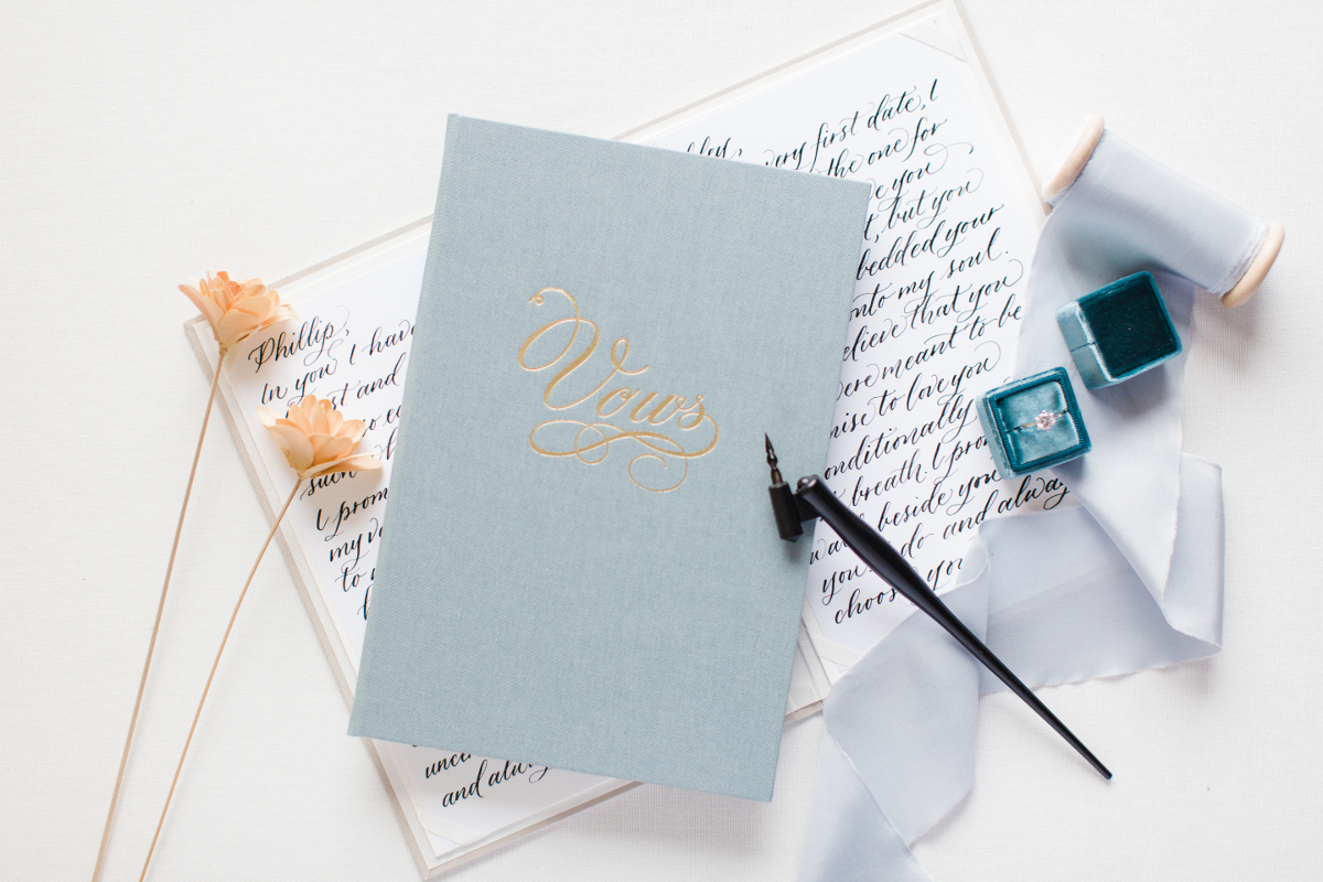 Wedding Story Writer large vow book