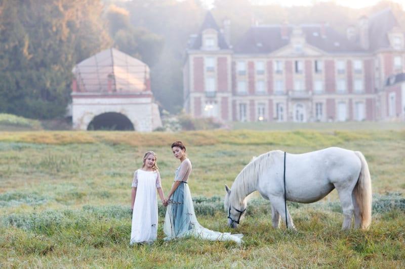 destination wedding bride flowergirl france