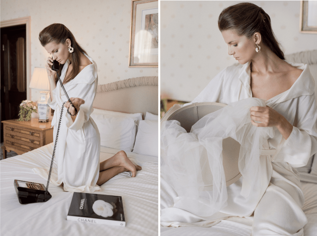 Bridal dressing robe luxury wedding story writer love stories chanel