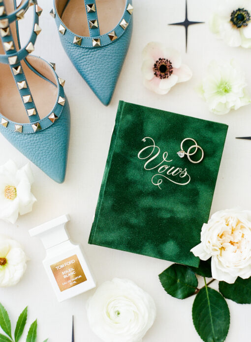 green vow book Vows Wedding Story Writer