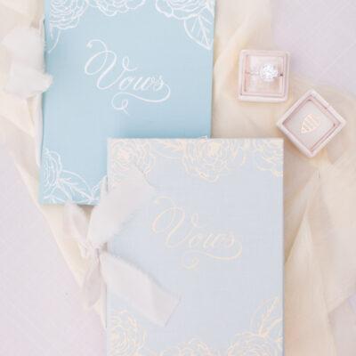 Wedding Story Writer Custom Vow Book Blue