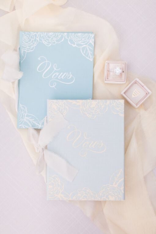 Wedding Story Writer Custom Vow Book Blue