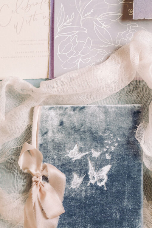 silk-velvet-butterfly-vow-book-wedding-story-writer