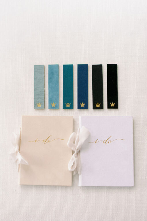 Wedding Story Writer blue green sapphire turquoise vow books