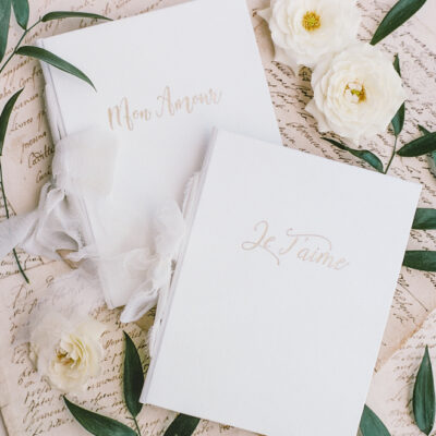 French Voeux Vow Books Wedding Story Writer