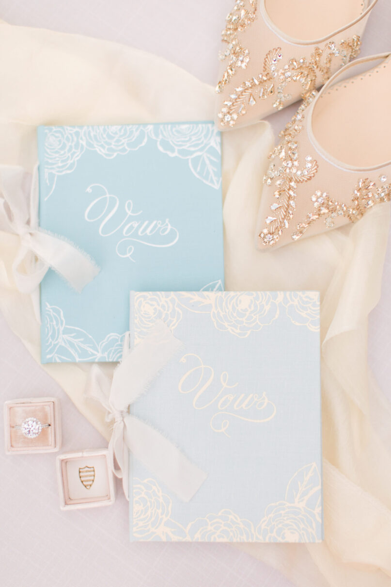 Wedding Story Writer floral vow book Florabelle