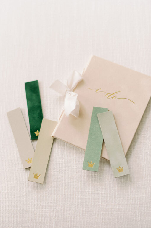 Wedding Story Writer green neutral vow books