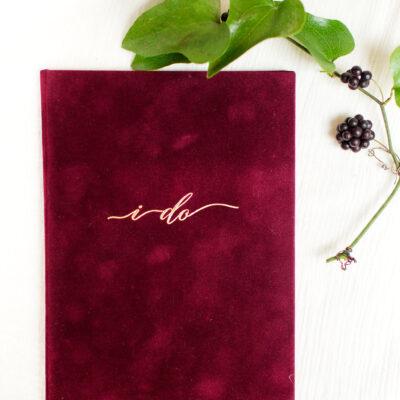 burgundy-i-do-vow-book-wedding-story-writer-luxury-weddings