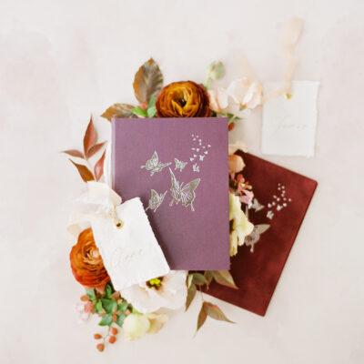 purple-maroon-vow-book-butterflies