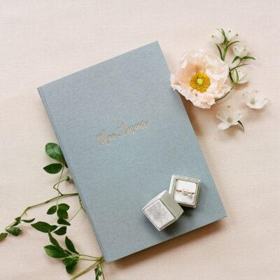 Blue-linen-mon-amour-vow-book